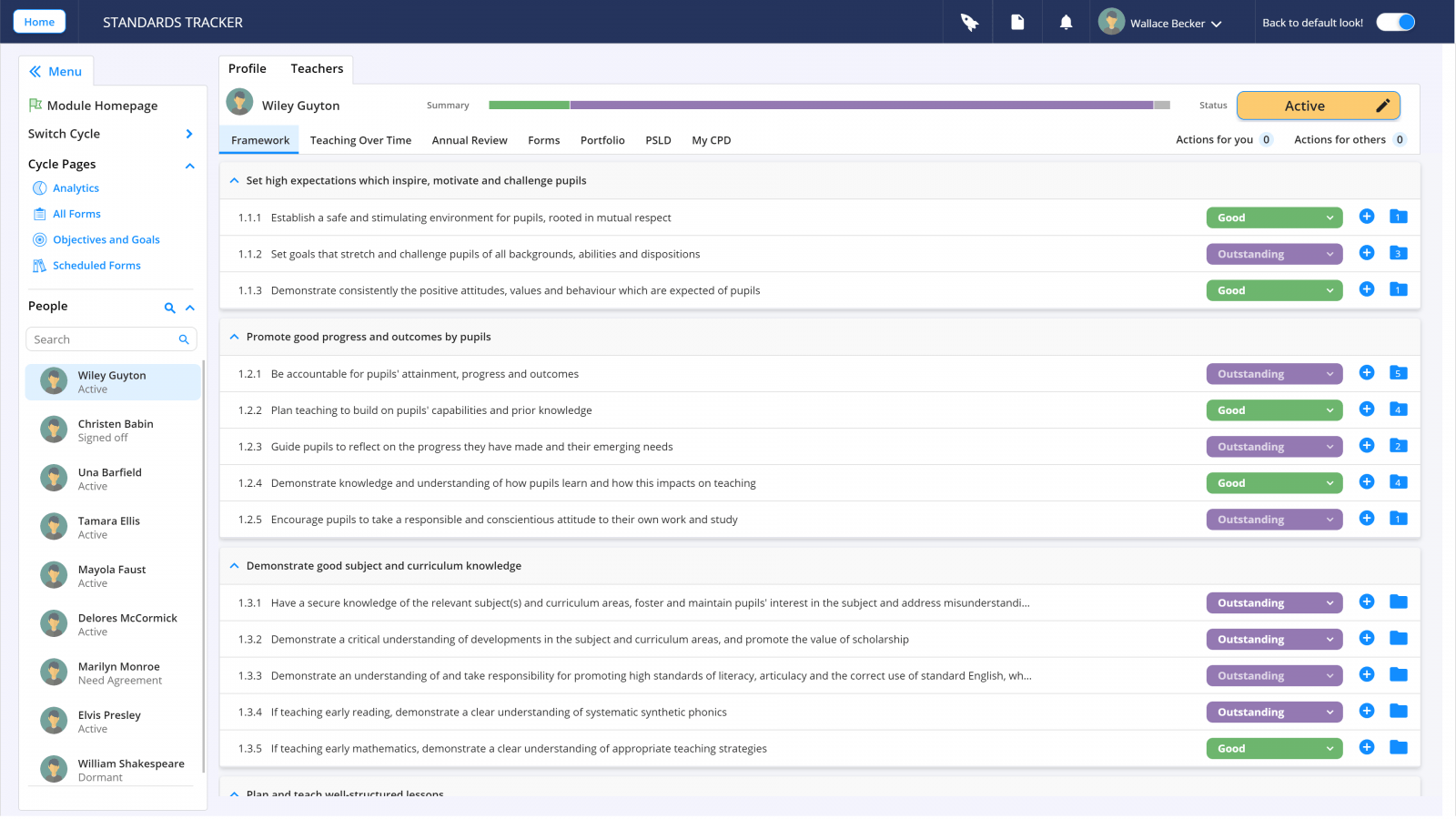 Teacher on a Page